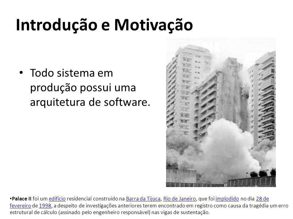 Todo sistema em produção possui uma arquitetura de software. Palace II foi um edifício residencial construído na Barra da Tijuca, Rio de Janeiro, que