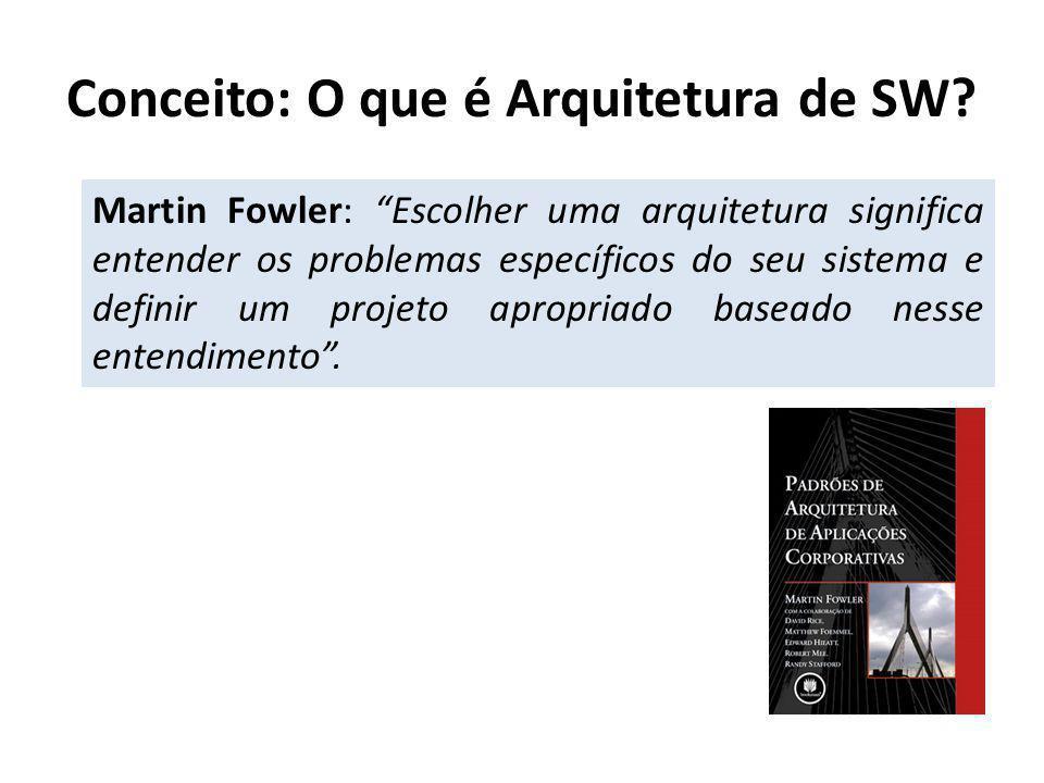 Martin Fowler: Escolher uma arquitetura significa entender os problemas específicos do seu sistema e definir um projeto apropriado baseado nesse ente