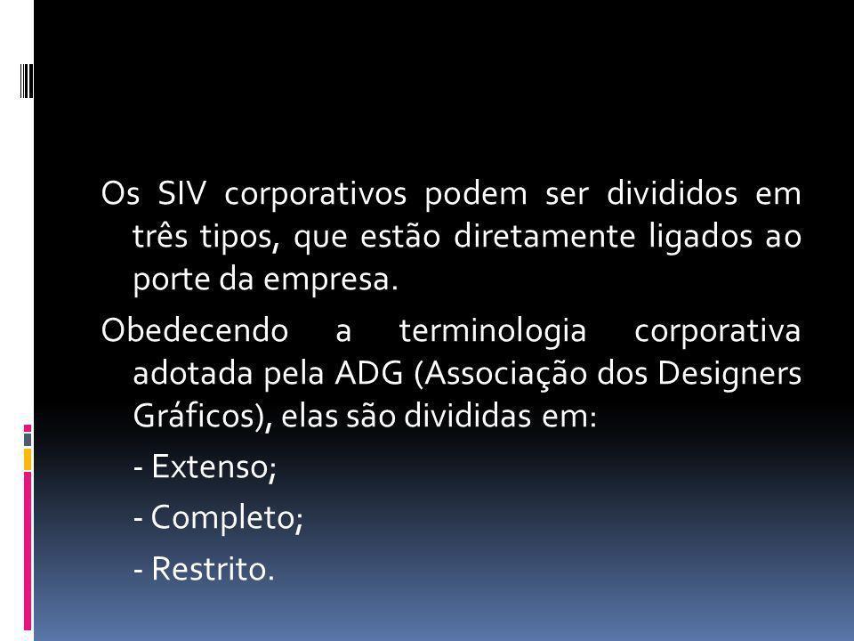 Os SIV corporativos podem ser divididos em três tipos, que estão diretamente ligados ao porte da empresa. Obedecendo a terminologia corporativa adotad