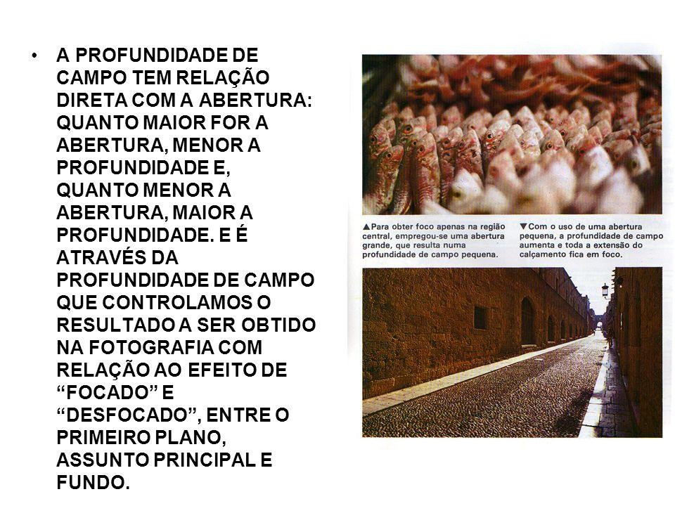 VELOCIDADE DO OBTURADOR A CORRETA REGULAGEM DA VELOCIDADE DO OBTURADOR É FUNDAMENTAL PARA SE OBTER BOAS FOTOS.
