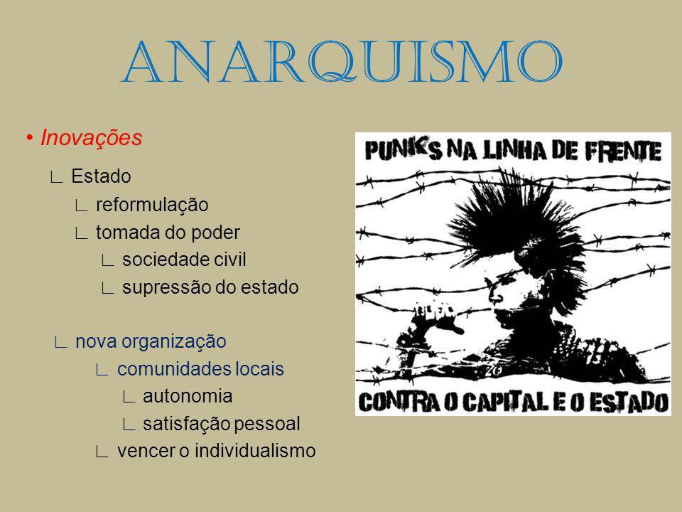 Inovações Estado reformulação tomada do poder sociedade civil supressão do estado nova organização comunidades locais autonomia satisfação pessoal ven