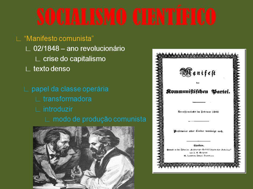Manifesto comunista 02/1848 – ano revolucionário crise do capitalismo texto denso papel da classe operária transformadora introduzir modo de produção
