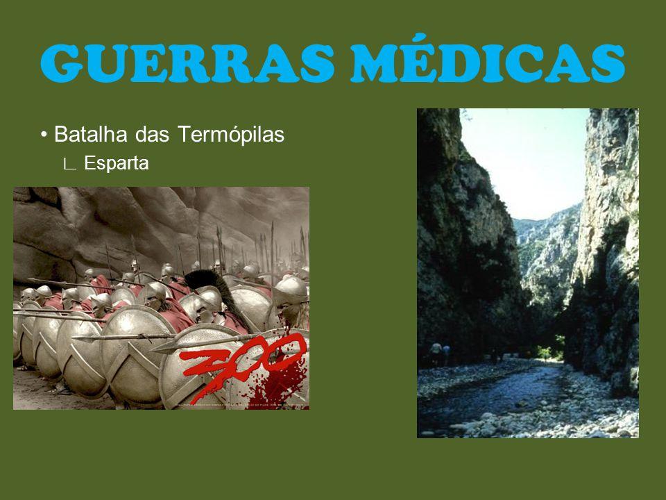Batalha das Termópilas Esparta GUERRAS MÉDICAS