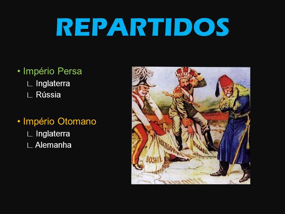 REPARTIDOS Império Persa Inglaterra Rússia Império Otomano Inglaterra Alemanha