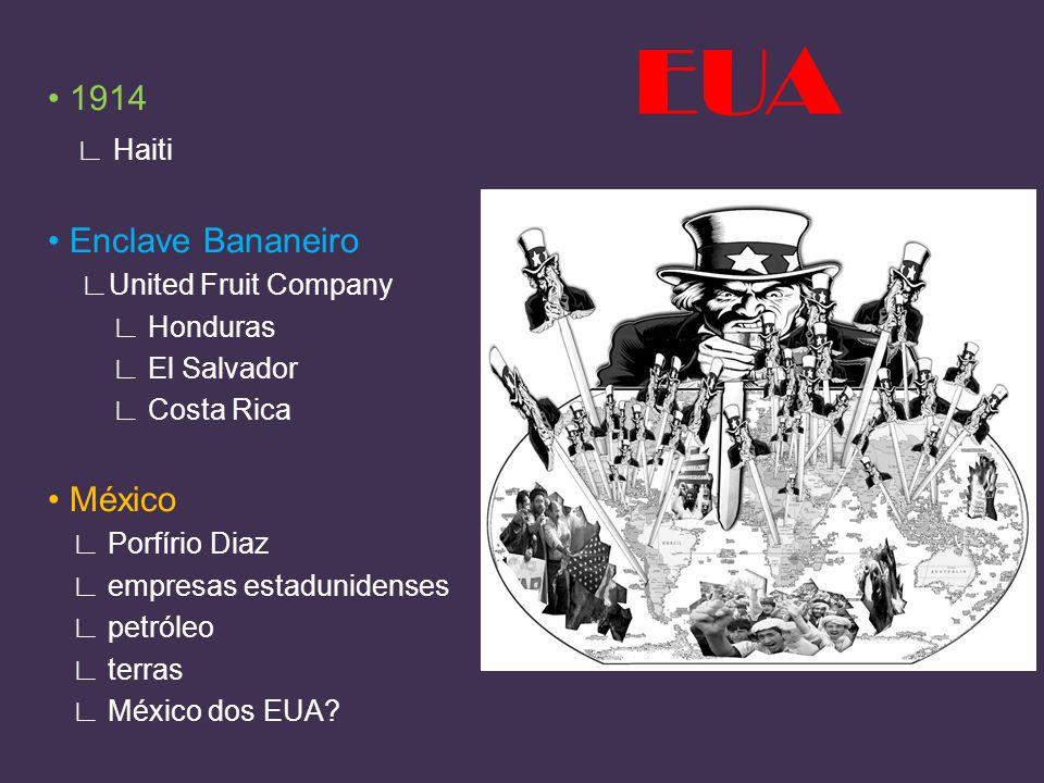 1914 Haiti Enclave Bananeiro United Fruit Company Honduras El Salvador Costa Rica México Porfírio Diaz empresas estadunidenses petróleo terras México