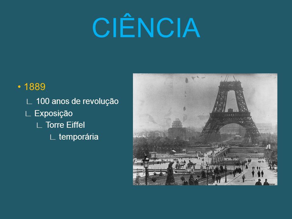 1889 100 anos de revolução Exposição Torre Eiffel temporária CIÊNCIA