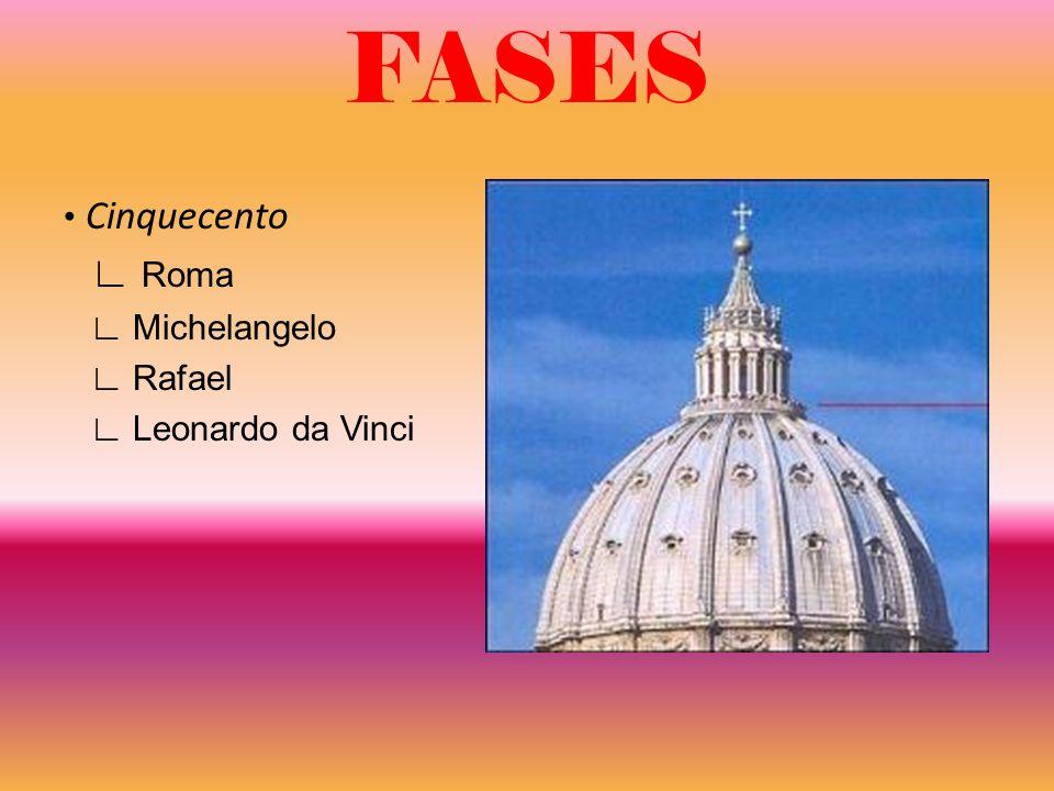 FASES Cinquecento Roma Michelangelo Rafael Leonardo da Vinci