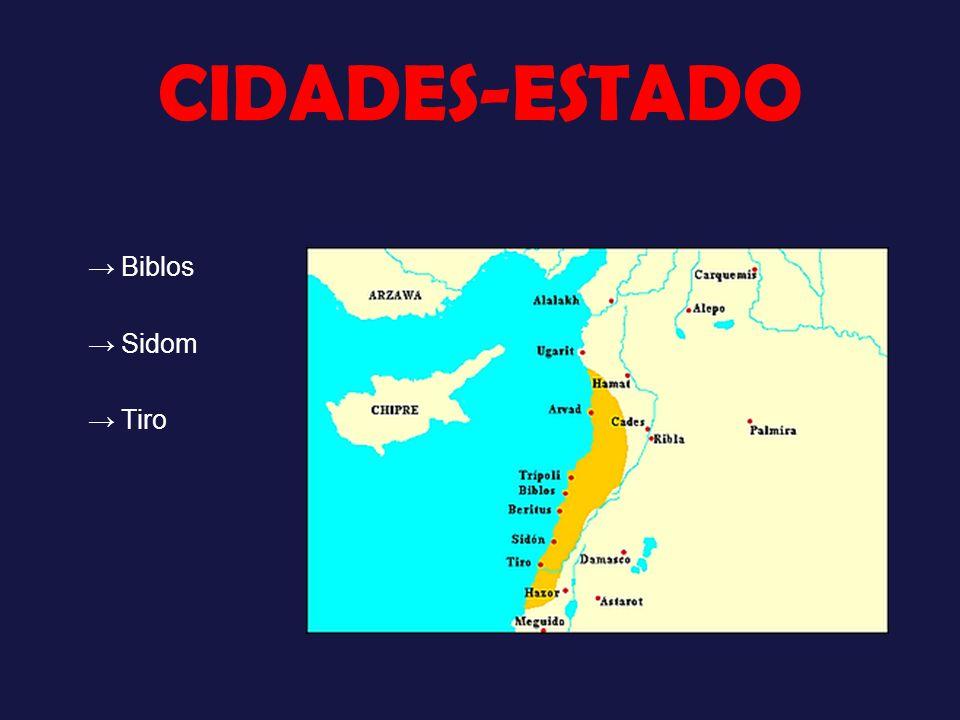 CIDADES-ESTADO Biblos Sidom Tiro