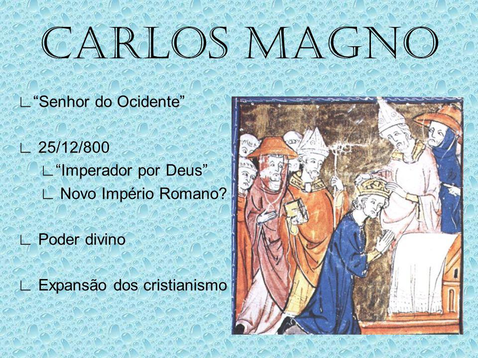 OS FRANCOS Lutas pelo poder Mordomos Carlos Martel Batalha de Poitiers 732 Expulsão dos muçulmanos da Gália Pepino, O breve Contra os lombardos Alianç