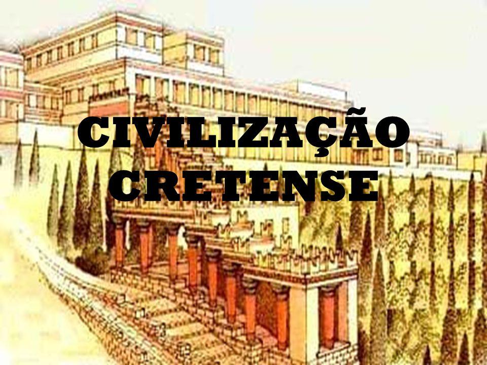 CRETA 2.000 a.C. Período pré-homérico Cnossos Palácio Rei Escrita Linear A Ainda não traduzida