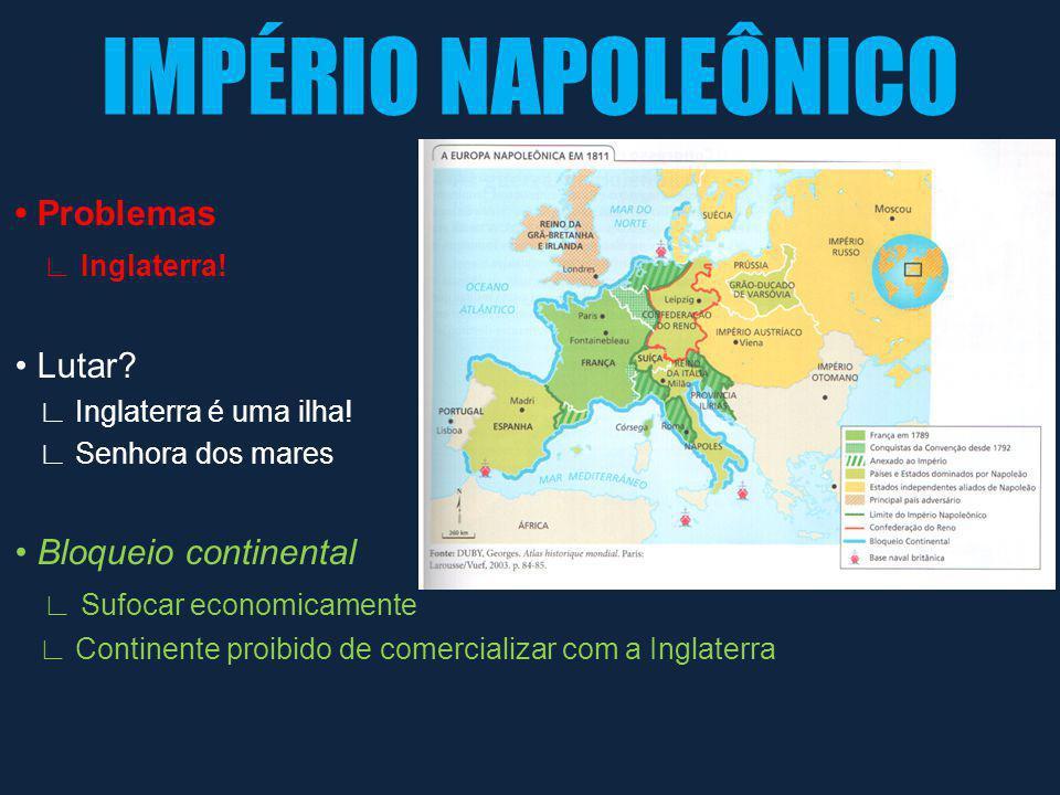 IMPÉRIO NAPOLEÔNICO Domínio Marítimo Inglaterra Domínio Terrestre Napoleão