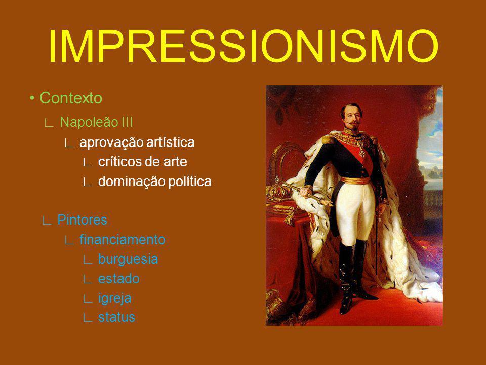 IMPRESSIONISMO Movimento artístico modernidade transformações ruptura naturalismo realismo impressionismo sobre a modernidade abstração sem técnicas acadêmicas