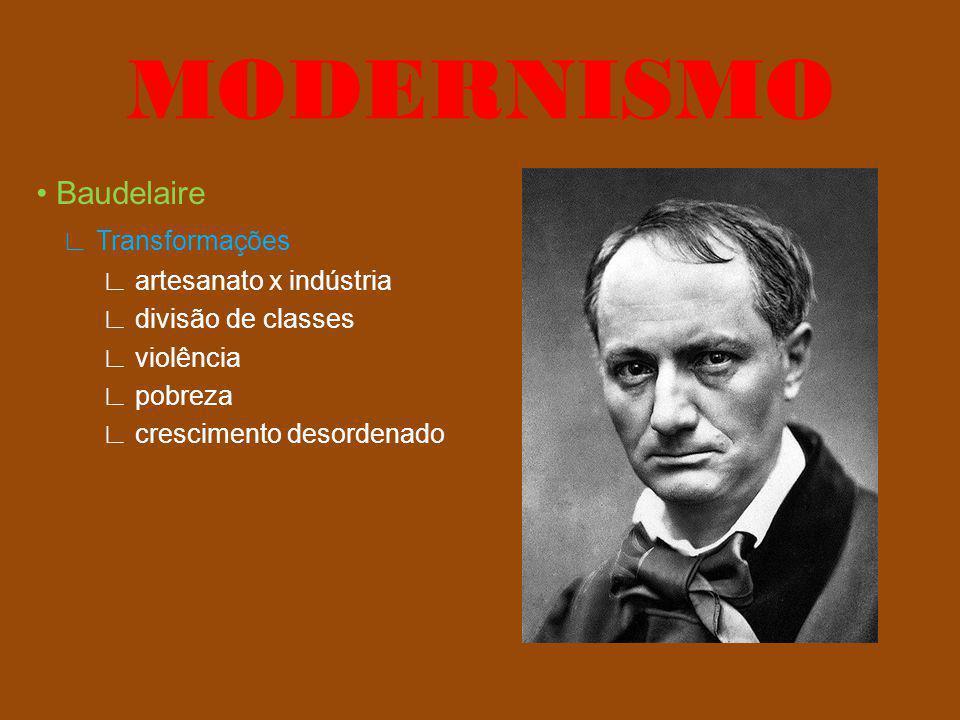 Precursores Baudelaire Flaubert arte degenerada não contribui para o progresso humano MODERNISMO
