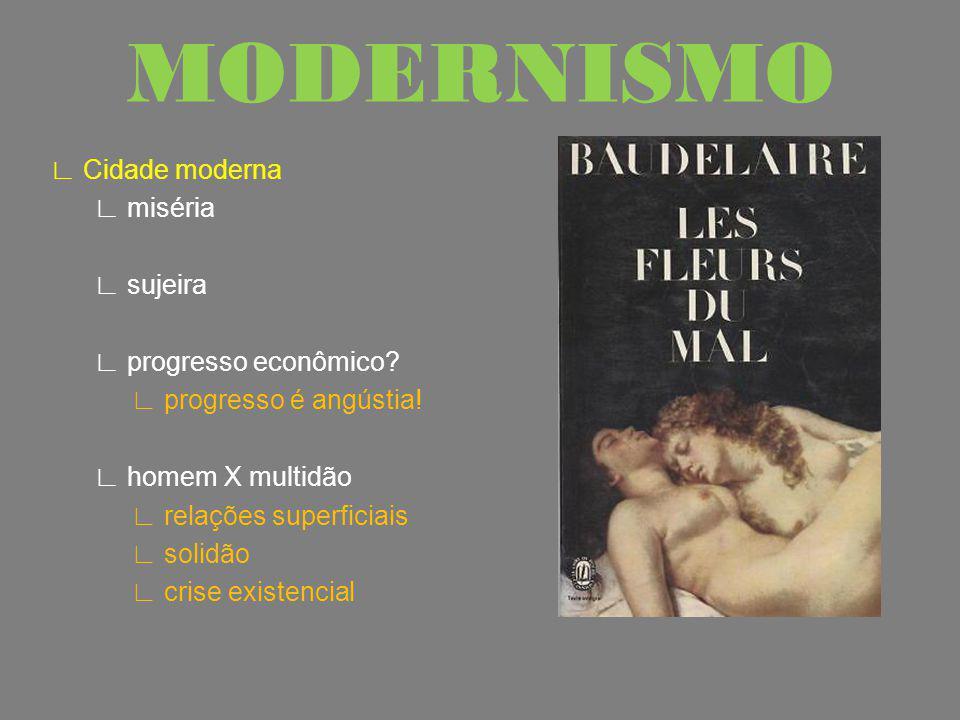 Baudelaire Transformações artesanato x indústria divisão de classes violência pobreza crescimento desordenado MODERNISMO