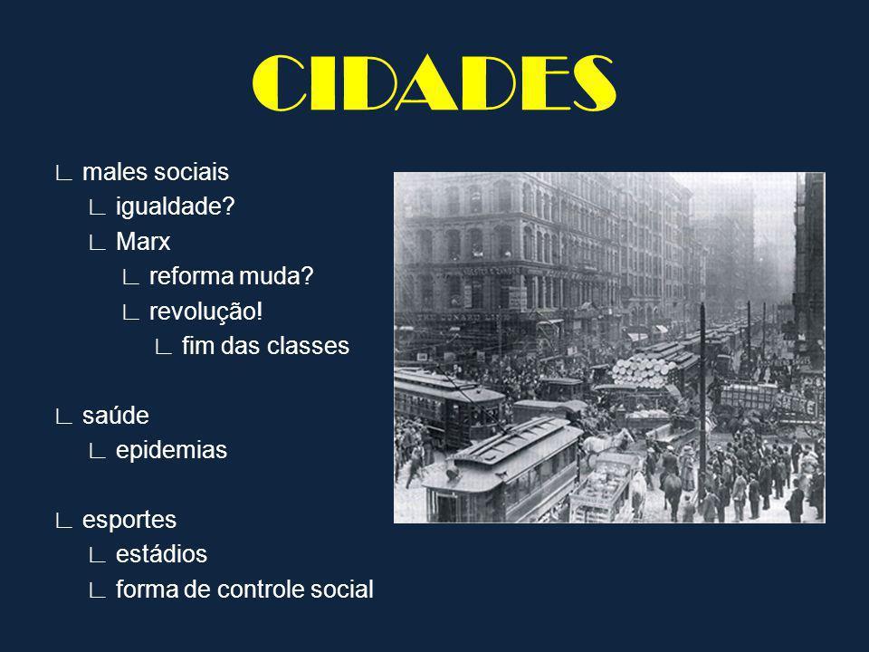 males sociais igualdade.Marx reforma muda. revolução.