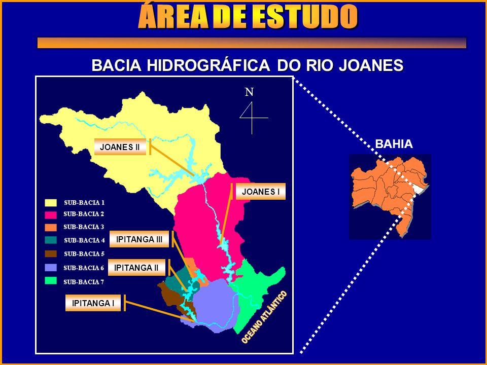 BAHIA N JOANES II JOANES I IPITANGA III IPITANGA II IPITANGA I BACIA HIDROGRÁFICA DO RIO JOANES