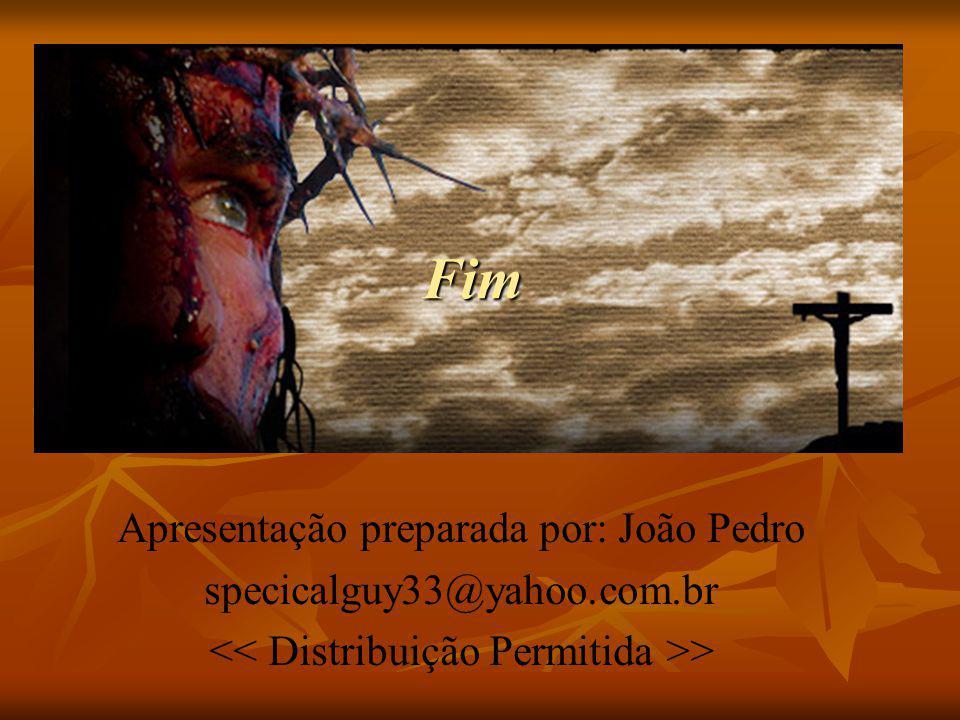 Fim Apresentação preparada por: João Pedro specicalguy33@yahoo.com.br >