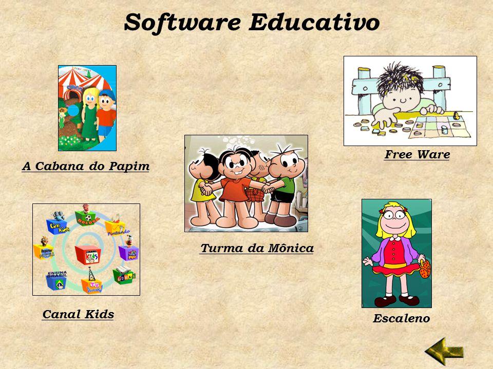 Software Educativo Free Ware A Cabana do Papim Canal Kids Escaleno Turma da Mônica
