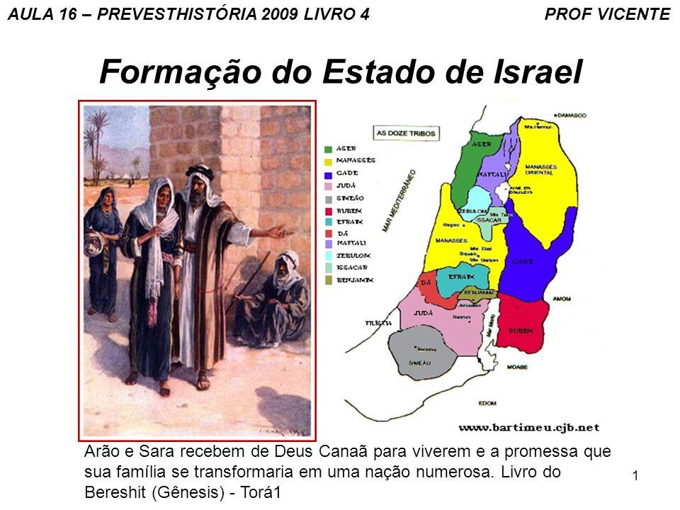 2 Formação do Estado de Israel BANDEIRA DE ISRAEL AULA 16 – PREVESTHISTÓRIA 2009 LIVRO 4 PROF VICENTE