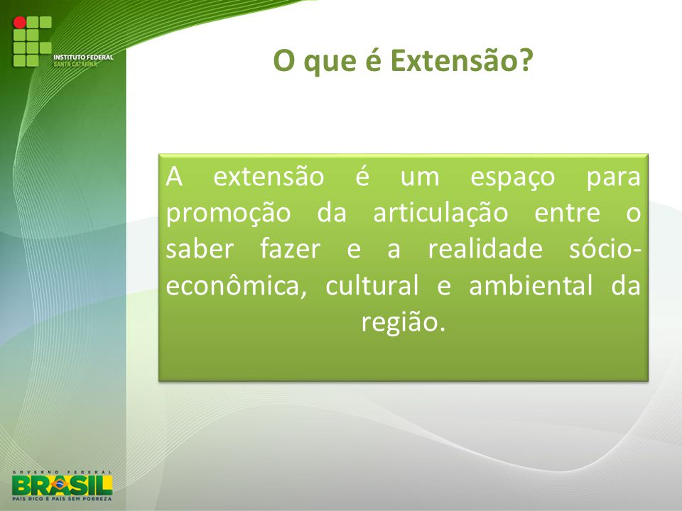 Papel da Extensão ENSINO EXTENSÃOPESQUISA SOCIEDADE