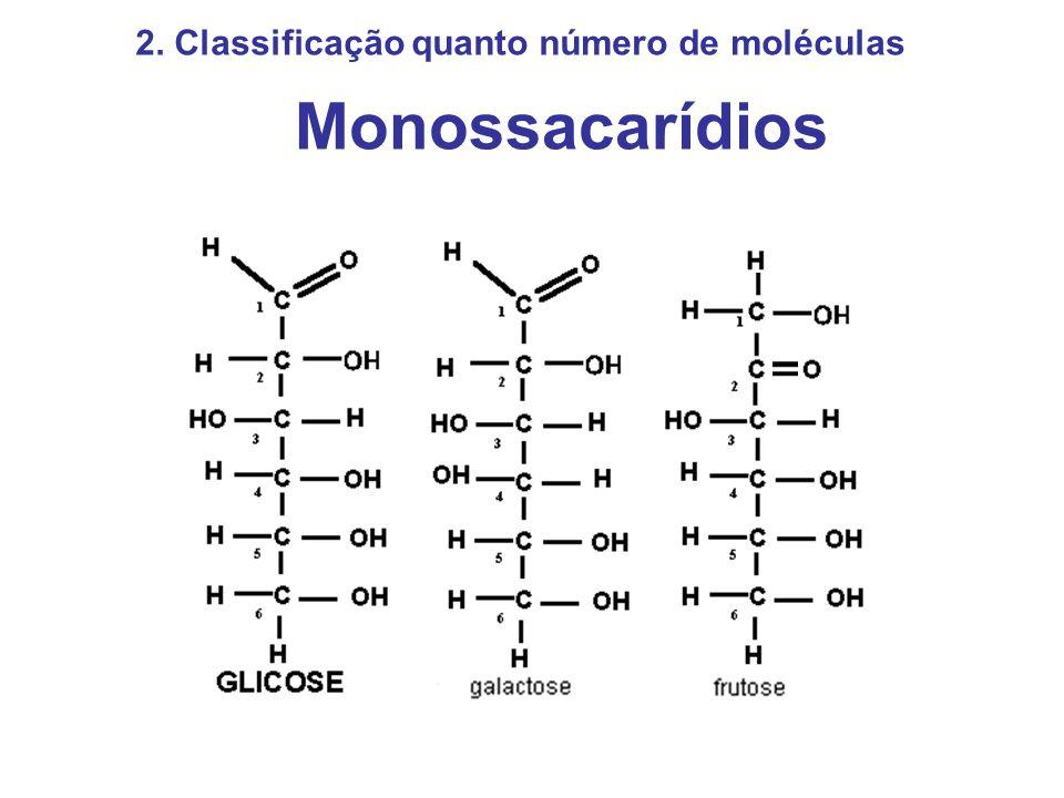 Monossacarídios 2. Classificação quanto número de moléculas