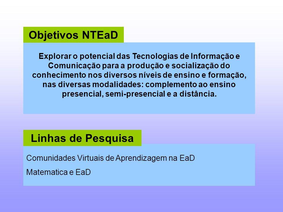 Explorar o potencial das Tecnologias de Informação e Comunicação para a produção e socialização do conhecimento nos diversos níveis de ensino e formaç
