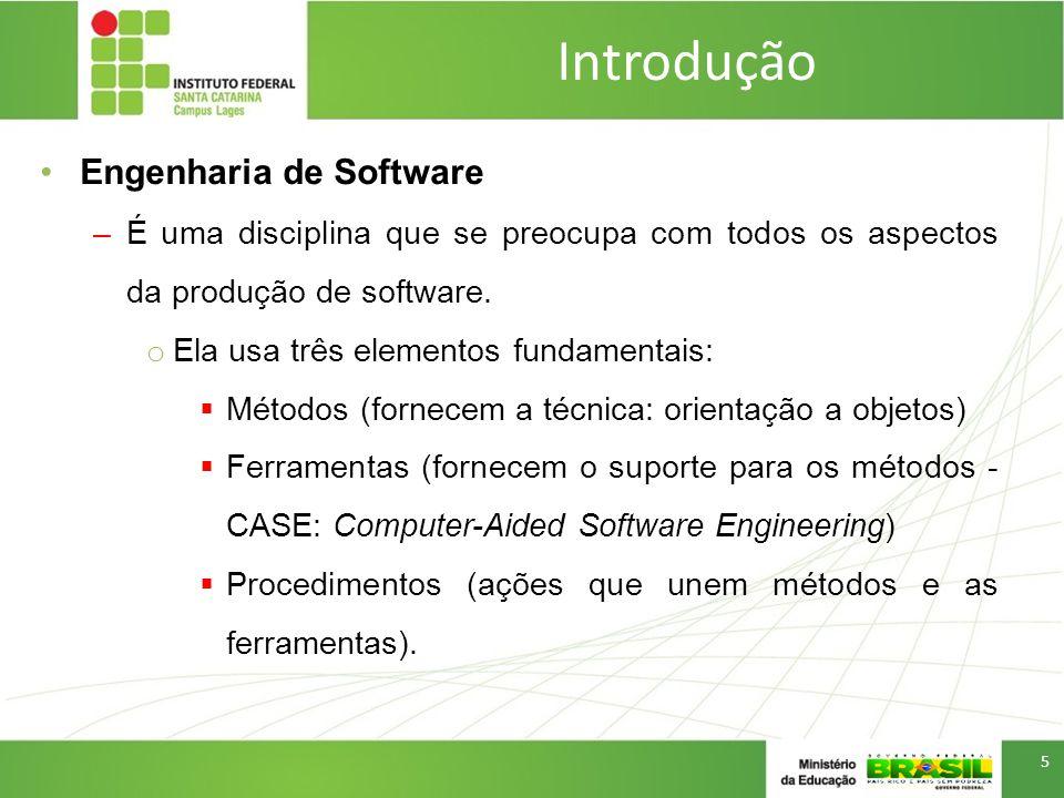 Introdução Ferramenta CASE (Computer-Aided Software Engineering) –Qualquer ferramentas baseada em computador que auxilie no desenvolvimento de software –Ex.