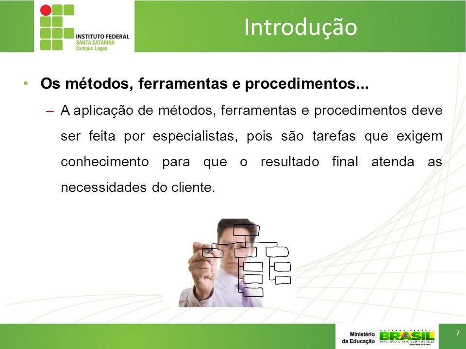 Introdução Software Engineering Body Of Knowledge - SWEBOK –Em 2004, a Eng.