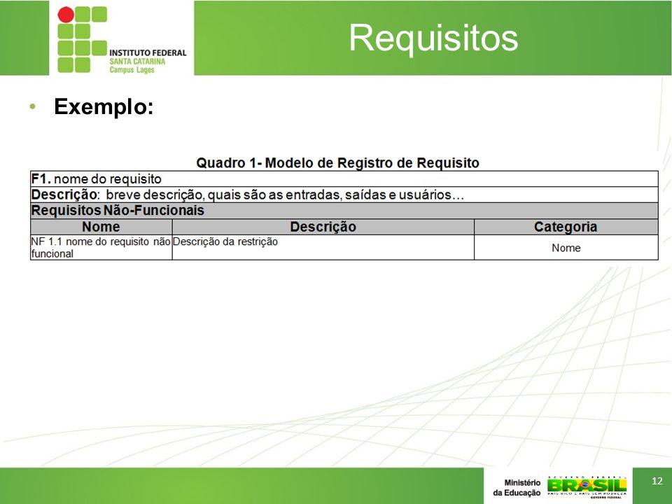 Requisitos Exemplo: 12