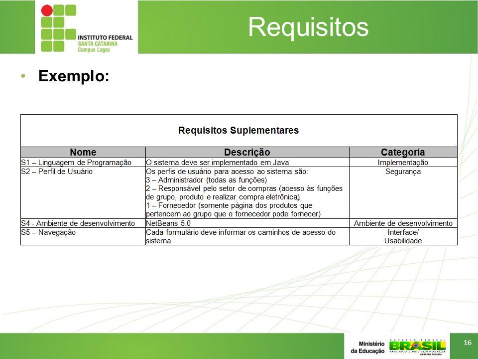 Requisitos Exemplo: 16
