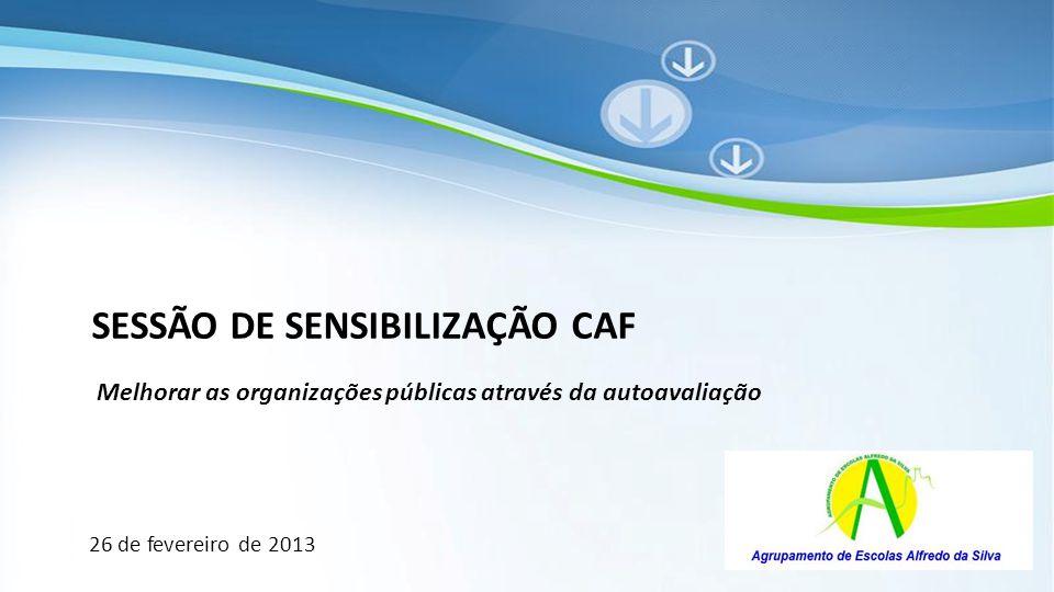 Powerpoint Templates SESSÃO DE SENSIBILIZAÇÃO CAF Melhorar as organizações públicas através da autoavaliação 26 de fevereiro de 2013