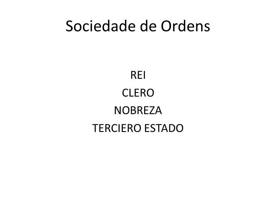 Sociedade de Ordens REI CLERO NOBREZA TERCIERO ESTADO