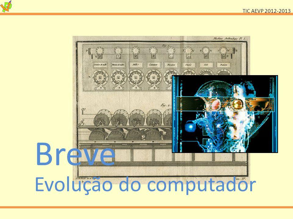 TIC AEVP 2012-2013 Evolução do computador Breve