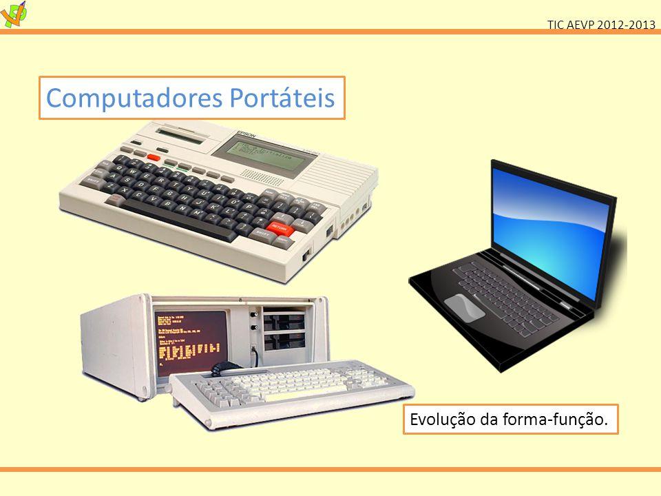 TIC AEVP 2012-2013 Computadores Portáteis Evolução da forma-função.