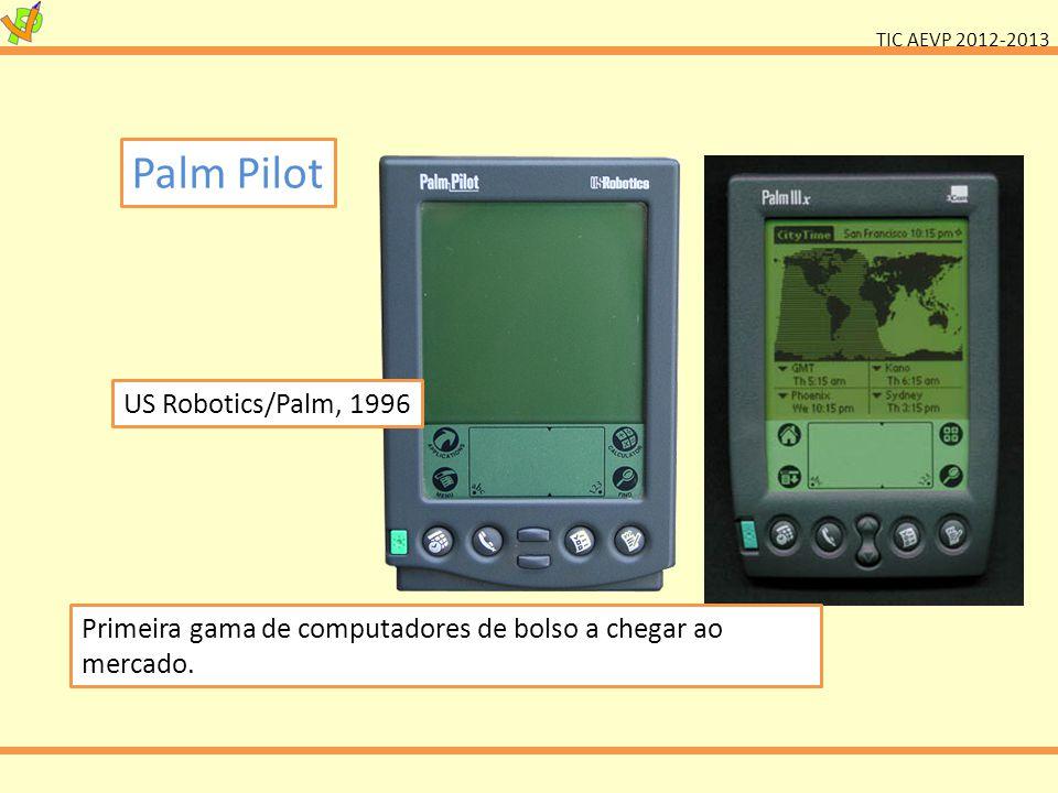 TIC AEVP 2012-2013 Palm Pilot US Robotics/Palm, 1996 Primeira gama de computadores de bolso a chegar ao mercado.