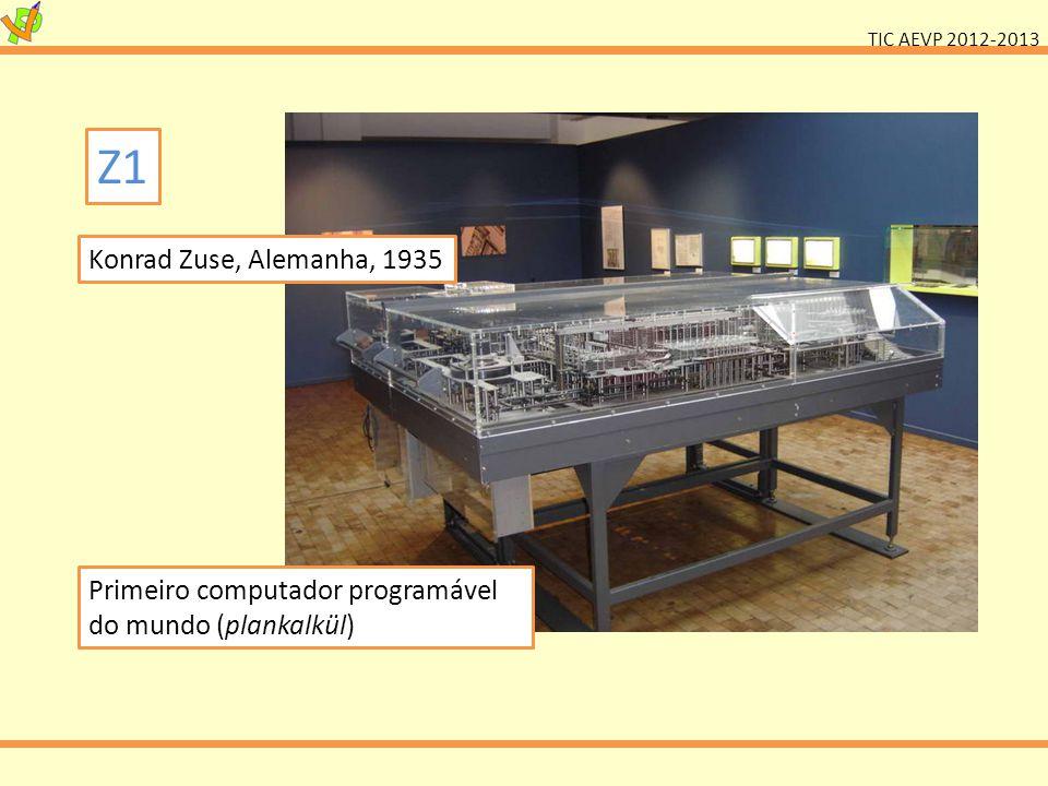 TIC AEVP 2012-2013 Colossus Inglaterra, 1943 Primeiro computador programável.