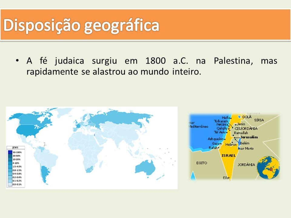 A fé judaica surgiu em 1800 a.C. na Palestina, mas rapidamente se alastrou ao mundo inteiro.