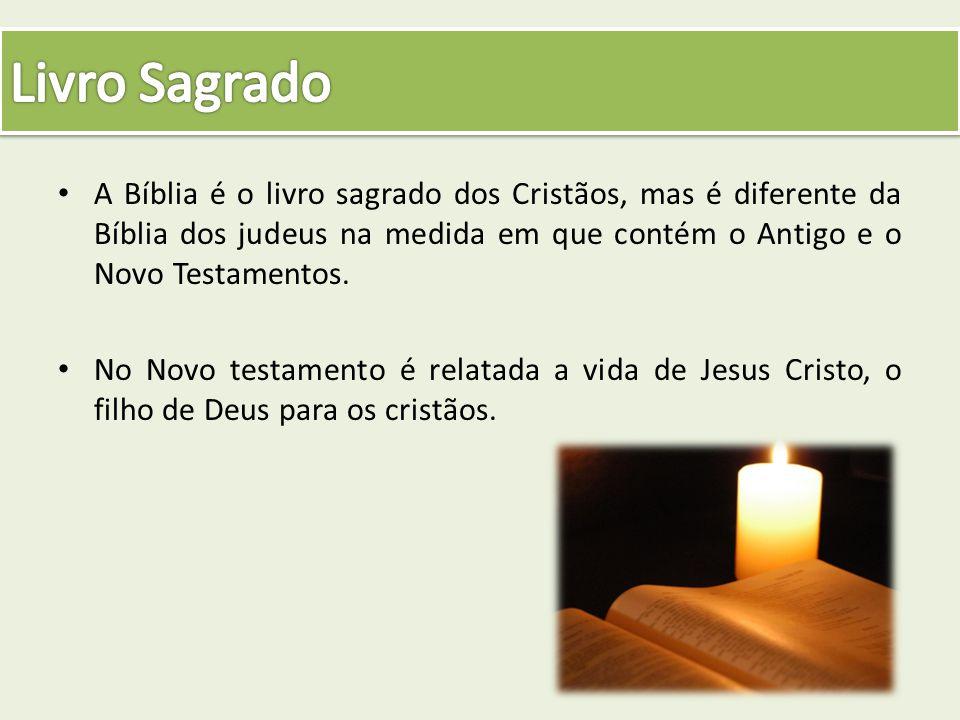 A Bíblia é o livro sagrado dos Cristãos, mas é diferente da Bíblia dos judeus na medida em que contém o Antigo e o Novo Testamentos. No Novo testament