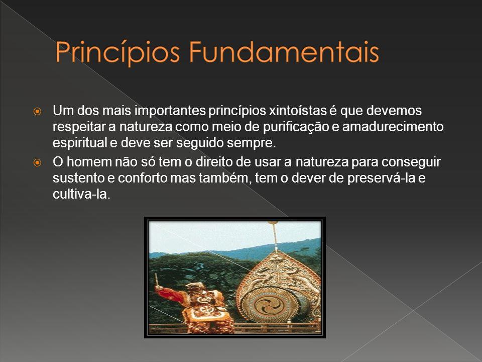 Um dos mais importantes princípios xintoístas é que devemos respeitar a natureza como meio de purificação e amadurecimento espiritual e deve ser segui