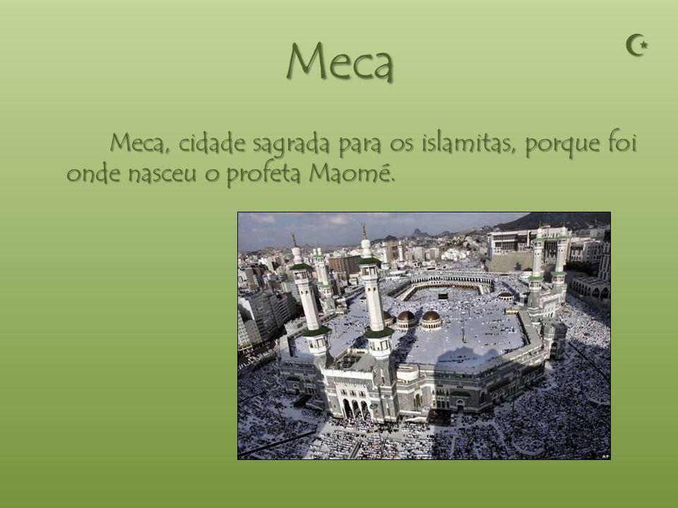 Cidades Sagradas As cidades sagradas do islamismo são: CidadesSagradas Meca Medina Jerusalém