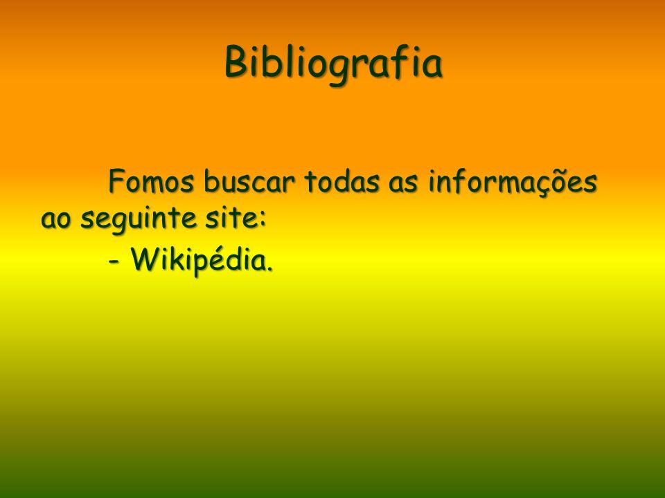 Bibliografia Fomos buscar todas as informações ao seguinte site: - Wikipédia.