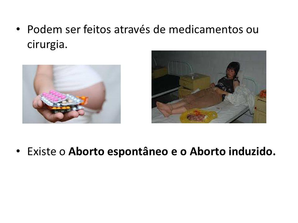 Podem ser feitos através de medicamentos ou cirurgia. Existe o Aborto espontâneo e o Aborto induzido.