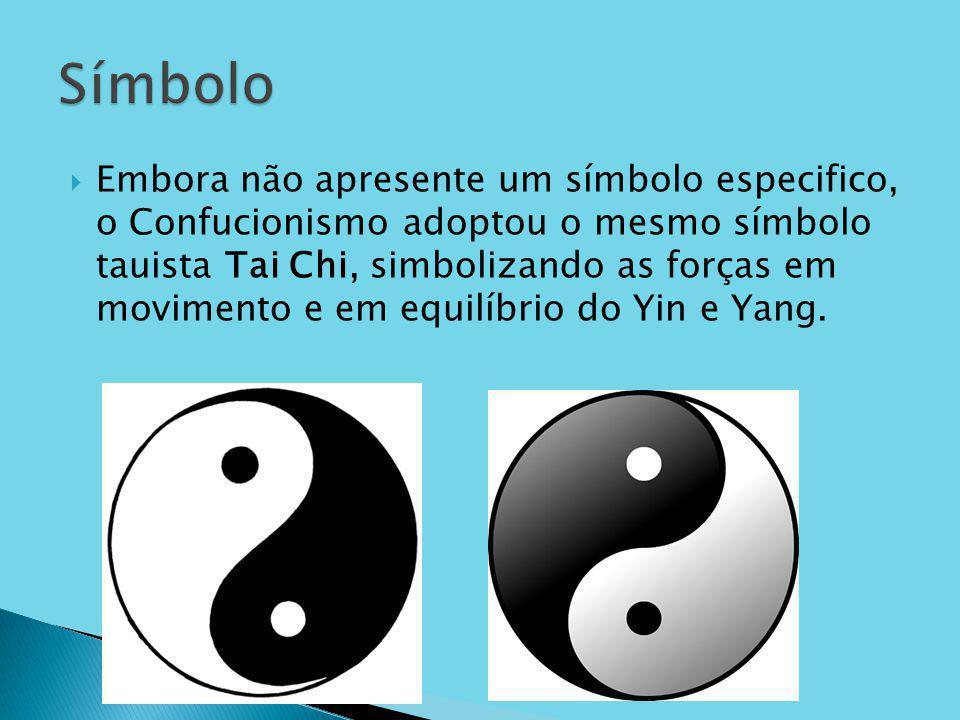 Embora não apresente um símbolo especifico, o Confucionismo adoptou o mesmo símbolo tauista Tai Chi, simbolizando as forças em movimento e em equilíbr