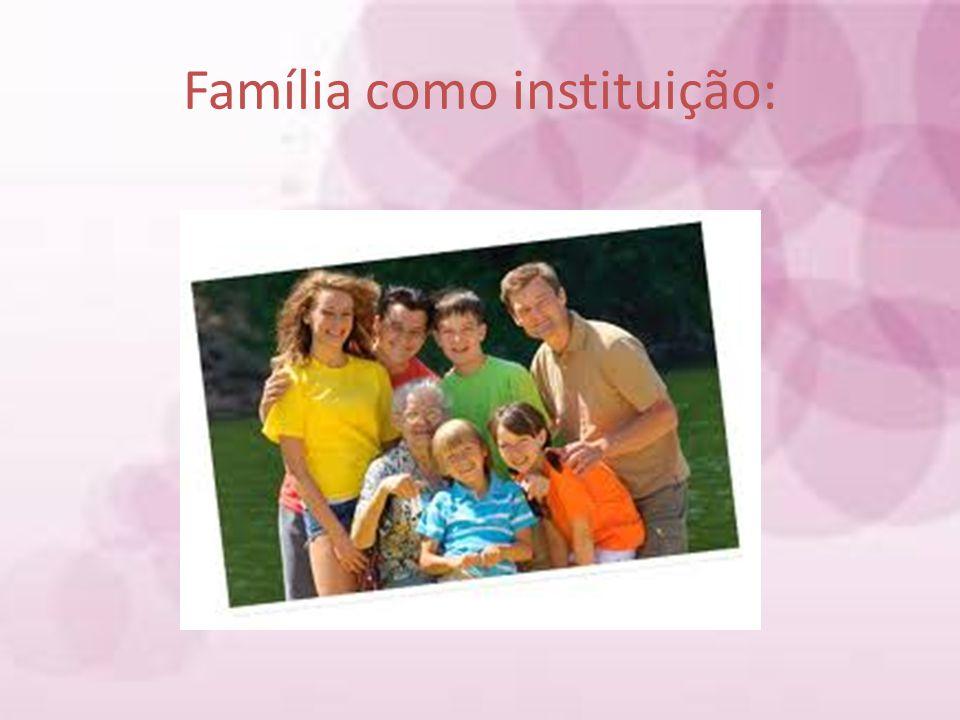 Família como instituição: