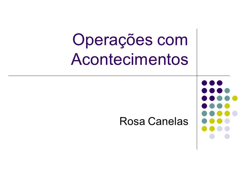 Operações com Acontecimentos Rosa Canelas