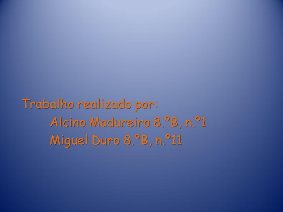Trabalho realizado por: Alcino Madureira 8.ºB, n.º1 Miguel Duro 8.ºB, n.º11