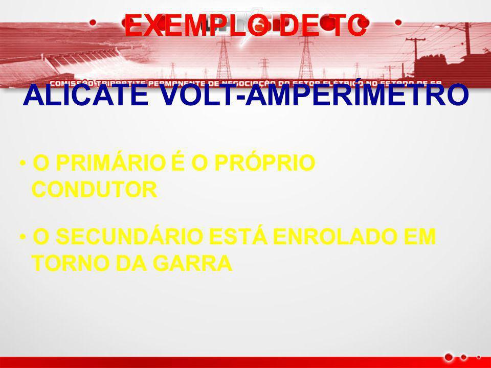TRANSFORMADOR DE CORRENTE (TC) TRANSFORMADOR DE CORRENTE (TC) FUNÇÃO FUNÇÃO REDUZIR A CORRENTE A VALORES CONVENIENTES PARA REDUZIR A CORRENTE A VALORES CONVENIENTES PARA MEDIÇÃO MEDIÇÃO PROTEÇÃO PROTEÇÃO