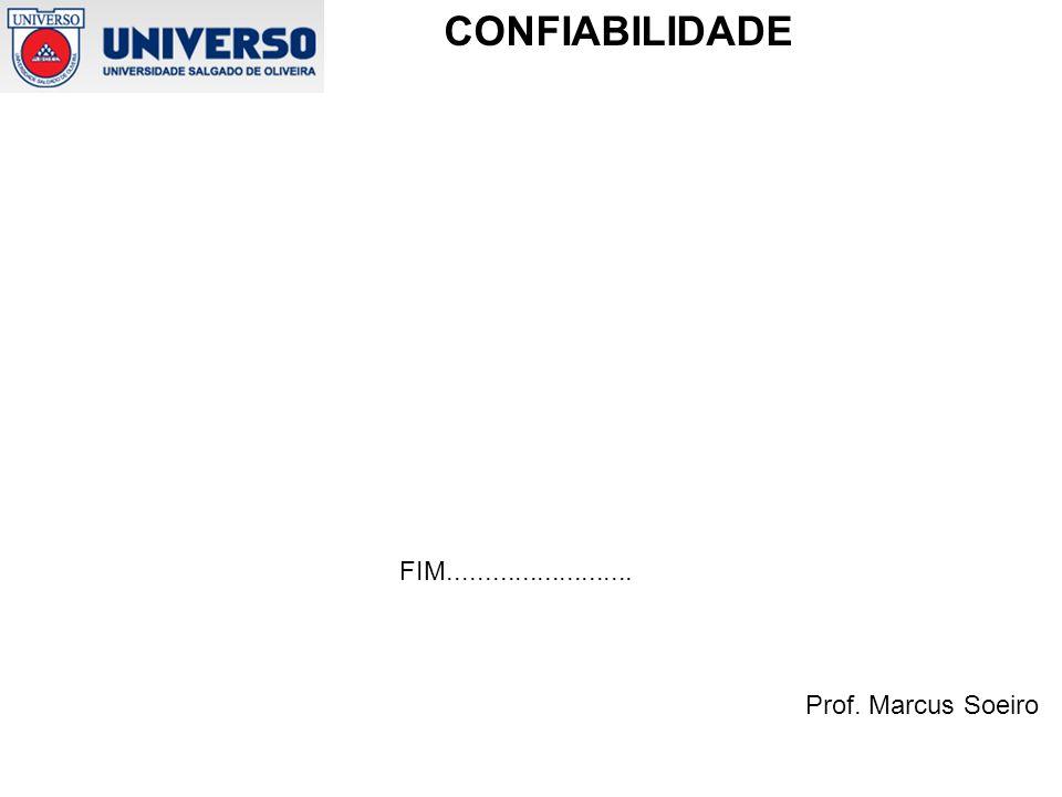 Prof. Marcus Soeiro CONFIABILIDADE FIM.........................