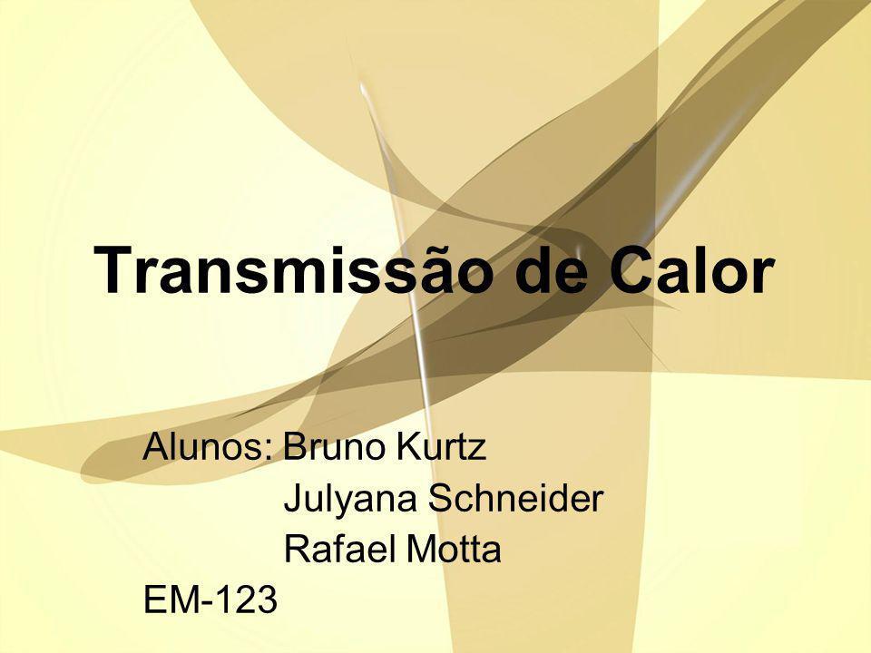 Transmissão de Calor Alunos: Bruno Kurtz Julyana Schneider Rafael Motta EM-123