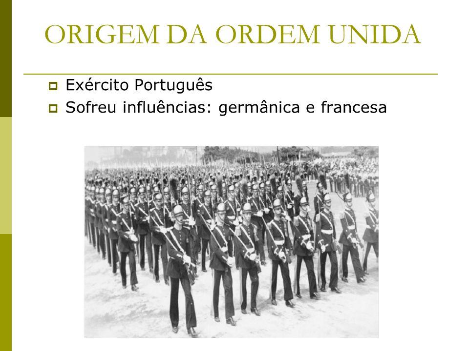ORIGEM DA ORDEM UNIDA Exército Português Sofreu influências: germânica e francesa